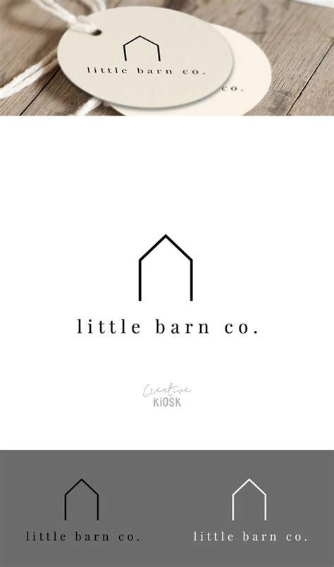 Tiny House Companies simple barn logo shop logo real estate business logo modern