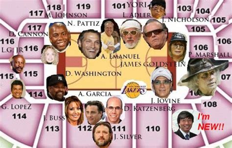 lakers courtside seat map who is the asian sitting courtside at lakers home