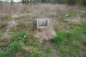 tree stump seats tree stump seat on parlington 169 ian s cc by sa 2 0