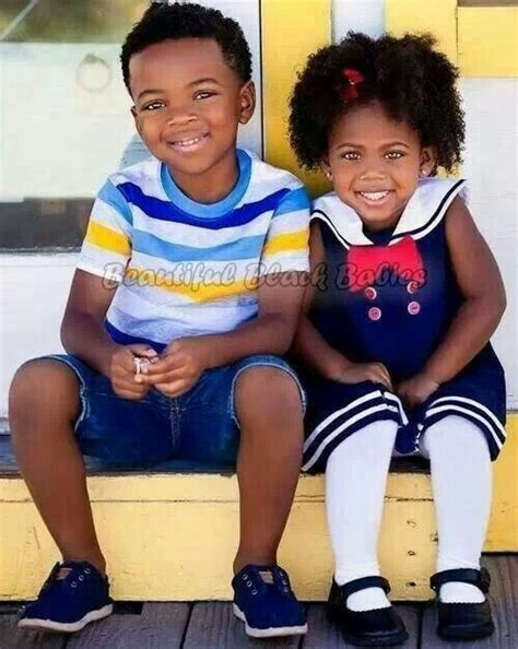 sister style brother hair beautiful black kids cute little girl boys fashion
