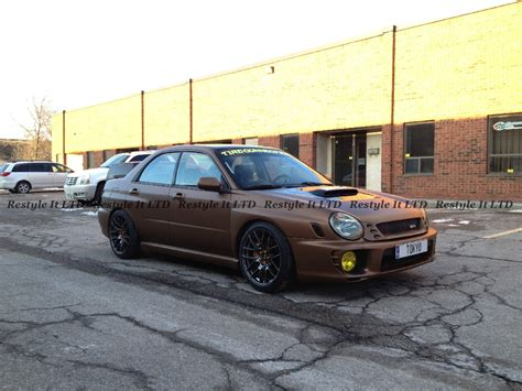 brown subaru matte brown subaru impreza vehicle customization shop