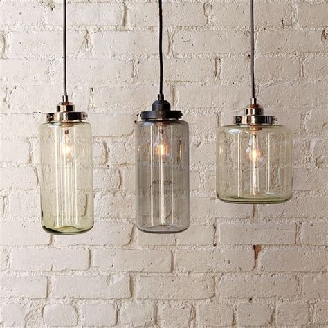 glass pendant kitchen lights glass jar pendants contemporary pendant lighting by west elm