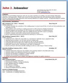 Welding Resume by Sle Resume For Welder Images