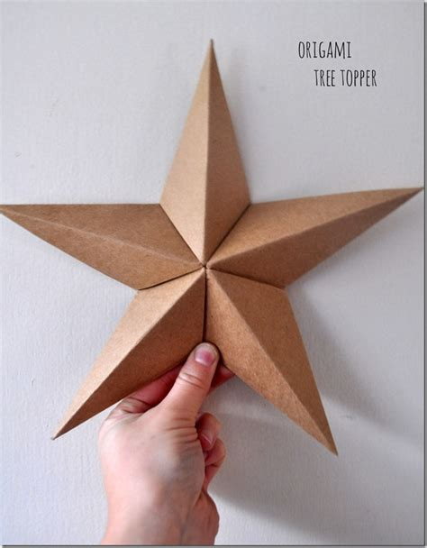 Origami Tree Topper - a handmade three wooden spoons