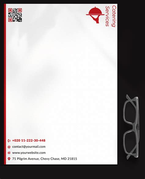 catering services letterhead template psd room surfcom