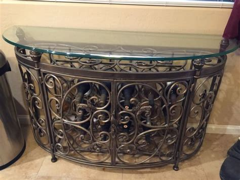 glass table tops mesa az wrought iron wine bottle buffet table furniture in mesa