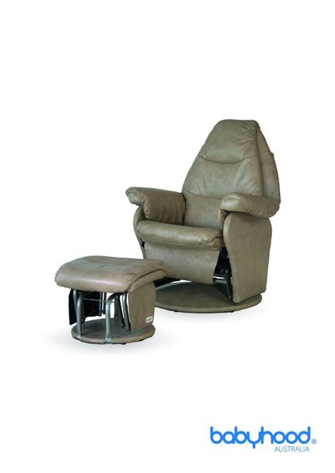 leather glider and ottoman babyhood leather rocker glider and ottoman product view