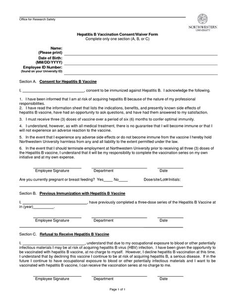 vaccination consent form template employee information form template credit application