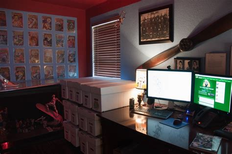 marvel room finally my home office the quot marvel room quot is complete silver surfer comic vine