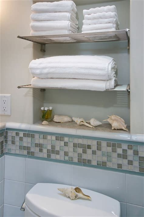 Chrome Bathroom Shelves For Towels Bathroom With Towel Niche And Chrome Shelves
