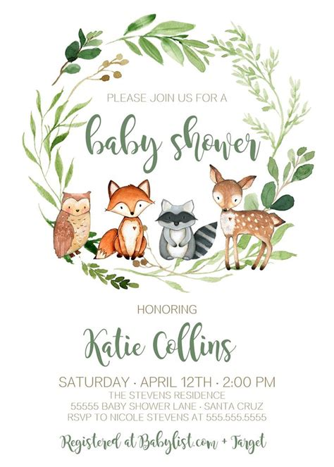 Woodland Baby Shower by Best 25 Woodland Baby Showers Ideas On