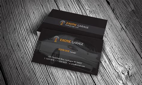 auto business card templates free car workshop garage business card template 187 free