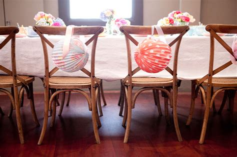 Bridal Shower Chair Decorations by A Vintage Themed Bridal Shower Modern Wedding