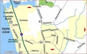 road map of encinitas san diego california