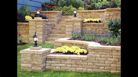 backyard garden retaining wall garden design