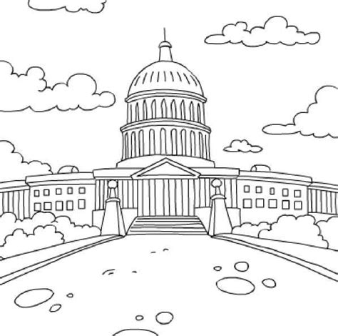 united states capitol building coloring page united states coloring pages national monuments