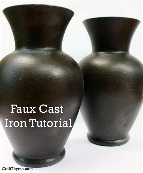 faux finish spray paint faux cast iron finish craft thyme