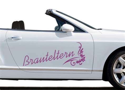 Aufkleber Sticker Hochzeit by Autoaufkleber Hochzeit Brauteltern Mit Ornament