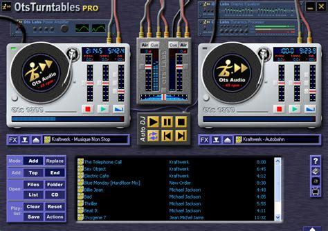 full version software of mp3 dj mixer otsturntables virtual turntables mp3 mixer