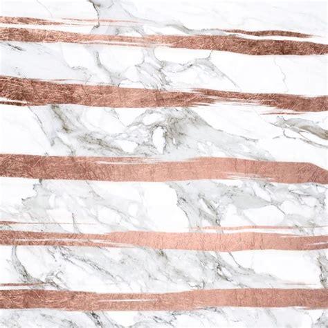 wallpaper pinterest rose gold modern chic faux rose gold brush stripes white marble art