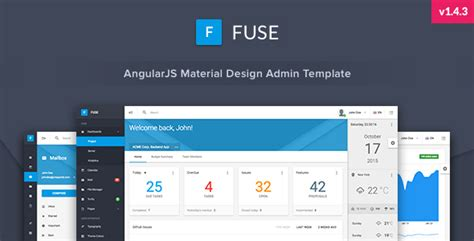 Fuse Angularjs Material Design Admin Template By Srcn Themeforest Material Design Admin Template Free
