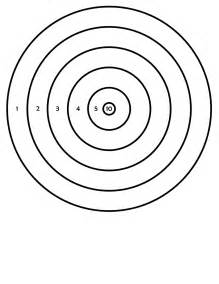 shooting targets colouring pages