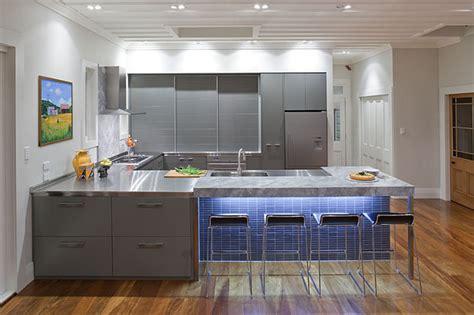 grey contemporary kitchen warm grey kitchen