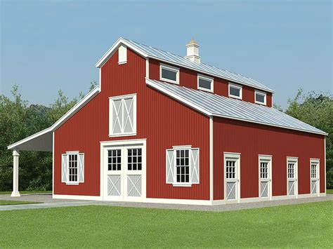 barn shop plans horse barn plans horse barn outbuilding plan 006b 0001