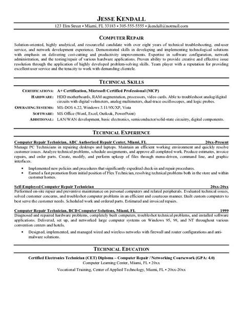 sle resume for lab technician entry level 28 images