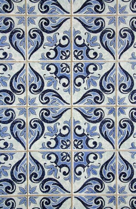 tile look wallpaper blue patterned quot tile quot wallpaper something beautiful
