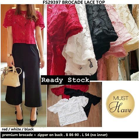 Louisa Top Impor Bangkok Diskon brocade lace top supplier baju bangkok korea dan