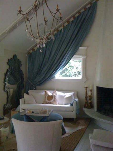 Vaulted Ceiling Curtain Ideas by Wish I Had Slanted Walls To Hang Curtains Like This