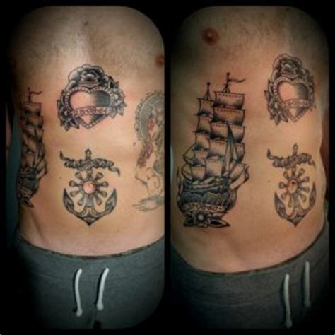 veliero old school tattoo veliero cuore e ancora old school gt fabio perego tattooing