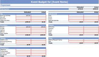 event budget spreadsheet template 9 event budget templates word excel pdf formats