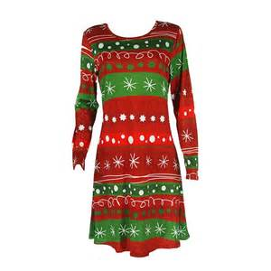 stylish women santa party swing flared dress christmas