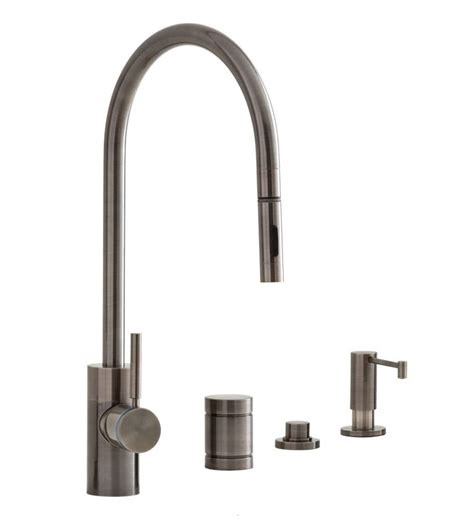 air in kitchen faucet faucet com 5300 4 ap in antique pewter by waterstone
