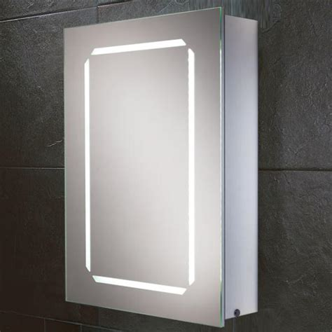 Led Bathroom Mirror Cabinet | hib cosmic steam free led backlit aluminium bathroom