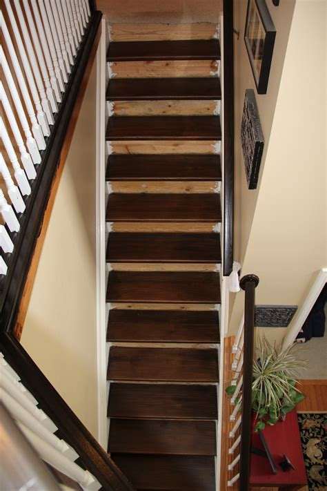 Stair Treads For Carpeted Steps by Staining Pine Stair Treads Tempting Thyme
