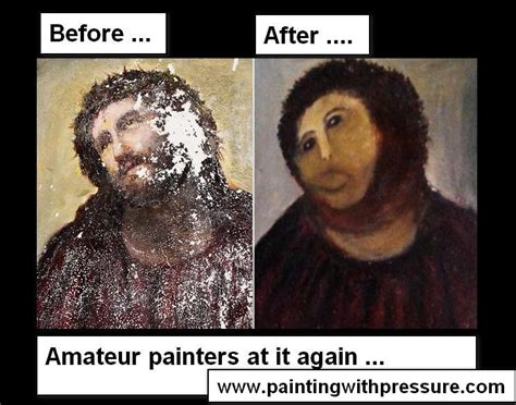 Meme Painting - wtf seriously botched ecce homo painting know your meme