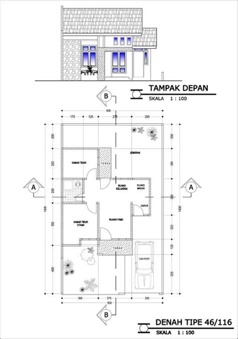 30 gambar macam denah rumah type 45 minimalis modern model desain rumah terbaru