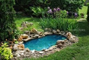 Pond Ideas For Small Gardens Small Koi Pond Images