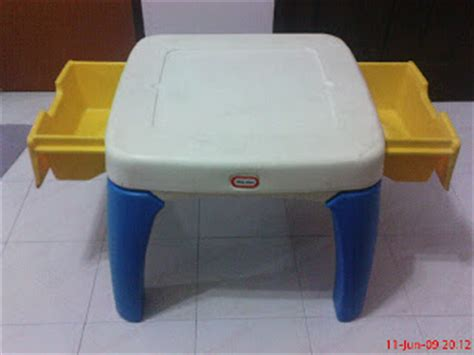 Tikes Table With Drawers by Colourful Tikes Table With Drawer Sold