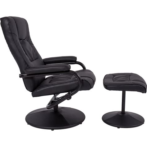 leather recliner chair with footstool best choice products leather swivel recliner chair with