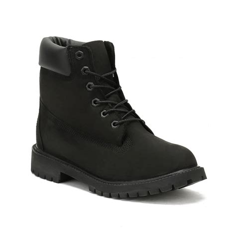 cheap black timberland boots for timberland junior black 6 inch premium waterproof boots