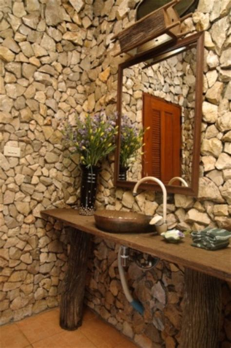 wonderful stone bathroom designs digsdigs