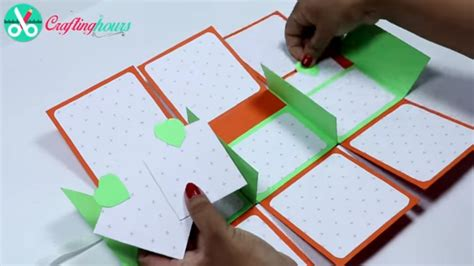 Paper Crafts For Boyfriend - paper craft diy photo album card step by step tutorial