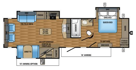 Jayco Travel Trailers Floor Plans by 2017 Eagle Luxury Travel Trailer Floorplans Prices