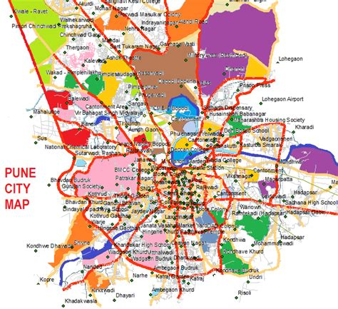 city map of pune punne ciy map