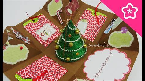 ideas para decorar una caja de navidad cajita tarjeta explosiva navidad excelente idea para