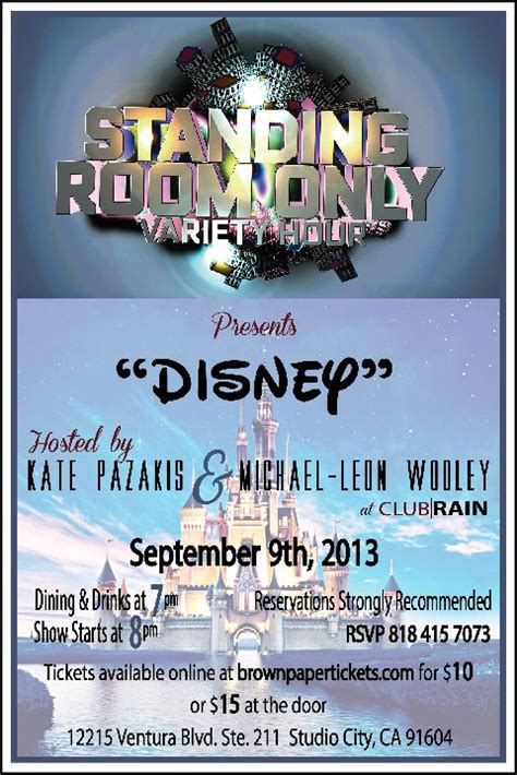 standing room only tv show micechat disney standing room only a of disney you re invited